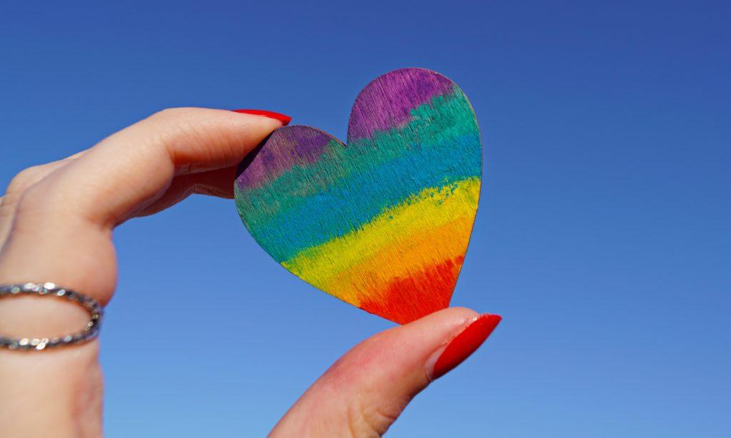 nails red love hartje heart